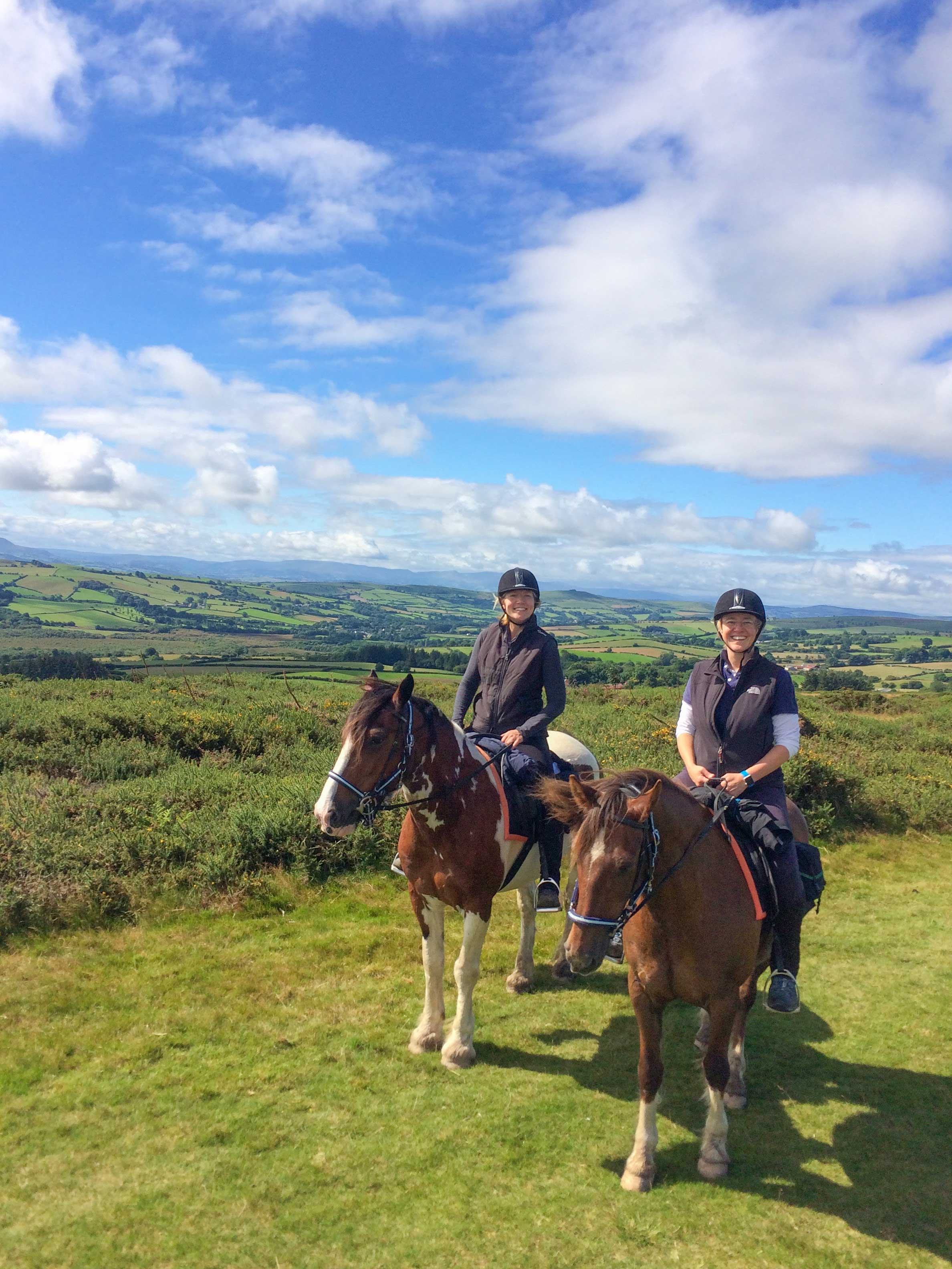 Riders enjoy the glorious weather on day one of their trail